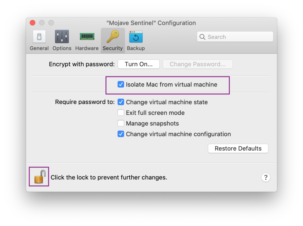 image of isolate virtual machine