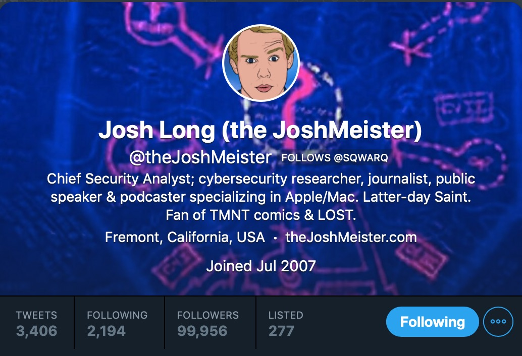 image of Josh Long on twitter