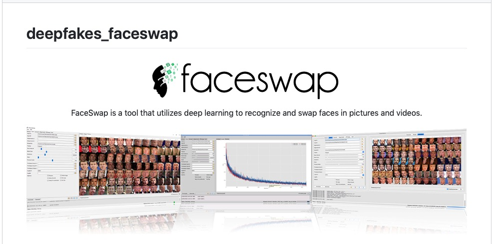 image of faceswap deep learning tool