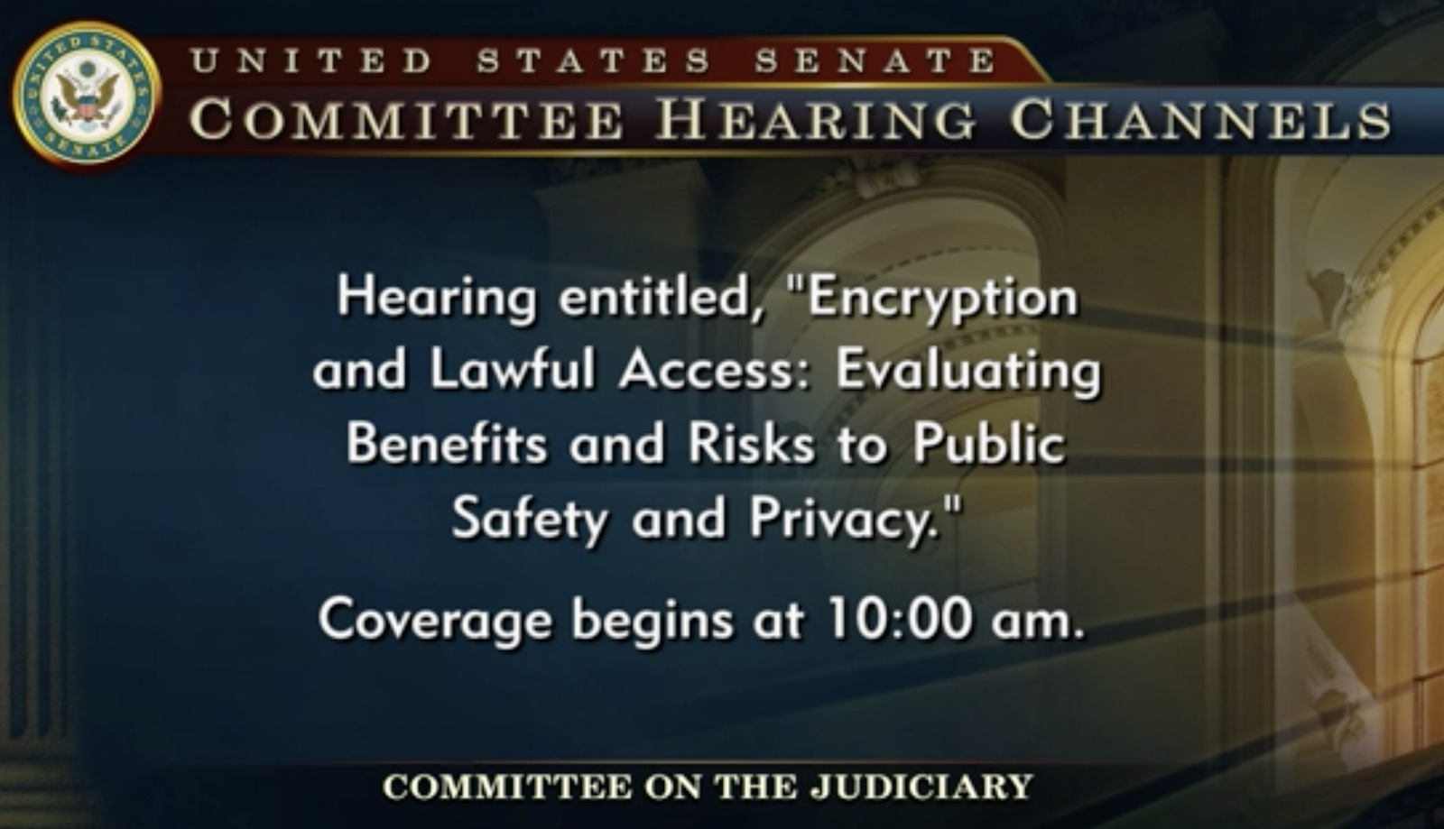 image of encryption judiciary hearing